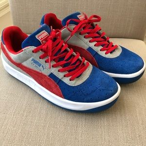 Puma GV Special Suede Colorblock Sneakers Blue Red